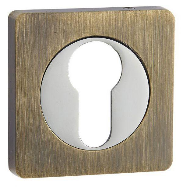 Дверная накладка под цилиндр Vantage ET02 AB бронза