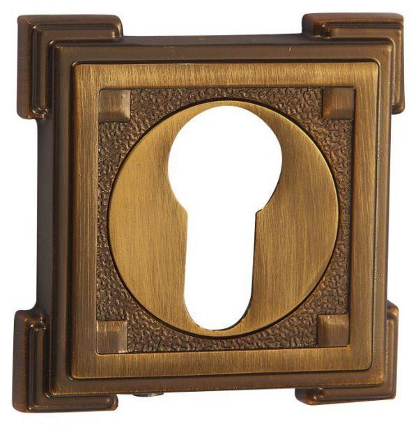 Дверная накладка под цилиндр Vantage ET15 CF кофе