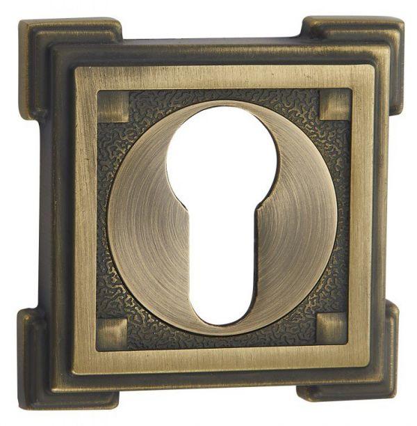Дверная накладка под цилиндр Vantage ET15 MAB матовая бронза