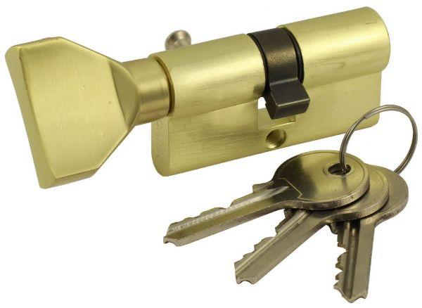 Цилиндровый механизм Vantage VC80-5 (40х40) SB матовое золото