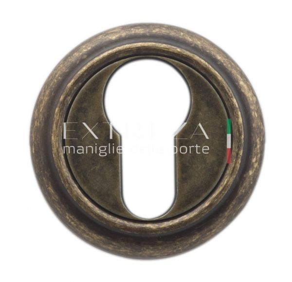 Накладка дверная под цилиндр Extreza CYL R01 античная бронза F23